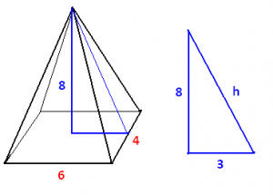 surface area of the rectangular pyramid